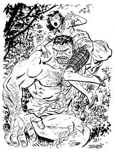 Hulk (Dr. Bruce Banner) (Savage Hulk persona) | art by Chris Samnee