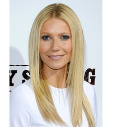 Gwyneth Paltrow hair 2012 Sleek and straight layers. Parted down middle or on side.