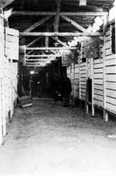 Auschwitz, Poland, The interior of a death camp  barrack in one of the camps.