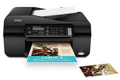 Epson WorkForce 320 Color Inkjet All-in-One (C11CB79201). Product protection you can count on - one-year limited warranty, phone support, without charge, for the life of the product. Protect important documents - smudge, fade and water resistant prints; documents rival those from a laser printer; highlighter-friendly too. High-speed faxing in black and color - as fast as 3 sec per page; speed dial storage up to 60 numbers; fax memory up to 180 pages. Save time - 4.3 ISO ppm (black) and…