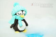 "Amigurumi - Pinguin häkeln ""Pit""- Premium & kostenlose Anleitungen - Ribbelmonster Textiles, Woodland Party, Free Pattern, Crochet Hats, Diy Crafts, Fun, Paracord Armband, Amigurumi Patterns, Kindergarten"