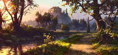 Digital art fantasy landscape environment Road To Castle by Fantasy Art Landscapes, Fantasy Paintings, Fantasy Landscape, Landscape Art, Fantasy Places, Fantasy World, Environment Painting, Fantasy Setting, Fantasy Illustration