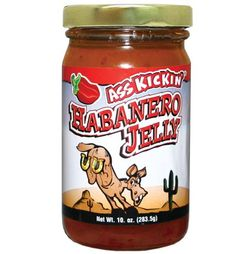 Habanero Jelly-This jelly made with habanero peppers is sure to give you a swift kick of hot! Habanero Jelly, Stuffed Peppers, Swift, Food, Stuffed Pepper, Meals, Stuffed Sweet Peppers