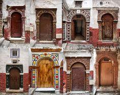 "UNESCO WORLD HERITAGE. Doors from the Kasbah of Algiers, Algiers, Algeria, North Africa. ""Casbah d'Alger, Algérie, Afrique du nord الجزائر ,..."
