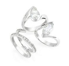 Bordeaux 1.69 ct Pear Shape Diamond Ring, $28,000, Matching Wedding band Marquise 2.05 ct Diamond Ring, $45,000, Mondial  Shop 17, Ground Floor, QVB