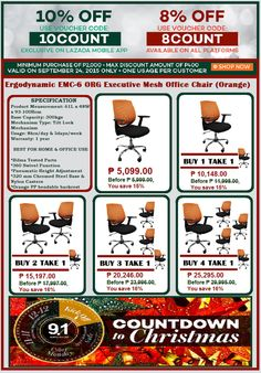 OFFICE FURNITURE OFFICE CHAIR SALE LAZADA PAYDAY SALE SAVE P500