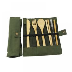 Reusable Bamboo Cutlery 7 Pcs Set Price: US $11.18 & FREE Shipping 🤔 🤔🤔 Curious about eco-friendly products? 🌿🐼🐾 Want to make a difference? 💃🕺😺 Then be part of the solution 💚✅🌌 don't be part of the problem 💩⚡📴 #zerowaste #sustainable #noplastic #eco #ecofriendly #reusable #plasticfreejuly #vegan #sustainableliving #reuse #gogreen #zerowastehome #sustainability #environment #stasherbag #nowaste #zerowastelifestyle #plantbased #recycle #plasticpollution #wastefree… Plastic Items, No Plastic, Plastic Waste, Utensil Set, Flatware Set, Plastic Free July, No Waste, Traveling By Yourself, Bamboo