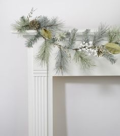 White & Green Pine, Pinecone & Berry Garland. Item # 13518188. Regular $29.99, on sale for $12.00