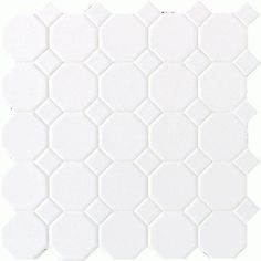 Daltile Octagon and Dot Mosaic Floor or Wall Ceramic Tile 2- $43 for 10 sq feet