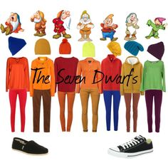Disneybound The Seven Dwarfs by homophileandahalf on Polyvore featuring Blugirl Folies, American Vintage, River Island, Uniqlo, jucca, Sutton Studio, Toast, Le Temps Des Cerises, French Connection and Oasis