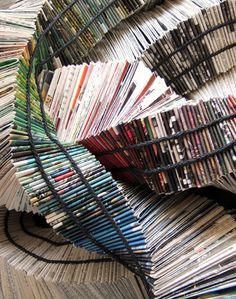Rhonda Ayliffe folds, stacks, burns and generally makes art out of books.