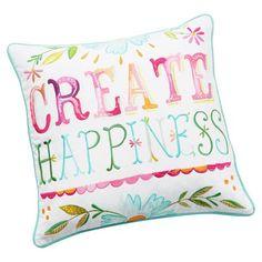 Watercolor Sentiment Pillow Cover | PBteen
