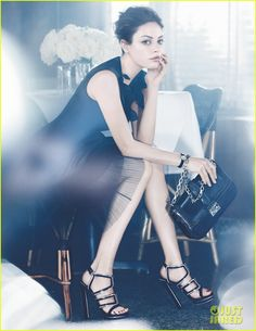 Mila Kunis in an ad campaign for Dior Spring/Summer 2012 collection.
