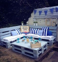 Pallet Garden Nautical Furniture Set And Sign • 1001 Pallets