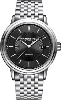 Raymond Weil Watch Maestro Mens #bezel-fixed #bracelet-strap-steel…