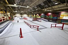 Where can you find a good place to ride BMX or skate when the weather is bad? Will the rain ruin my board? Here are the best indoor skateparks in the UK. Cycling Quotes, Cycling Art, Cycling Jerseys, Gun Safe Room, Concrete Backyard, Best Bmx, Indoor Places, Bicycle Design, Skate Park