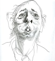 David Levine Caricature of William F. Buckley, Jr.