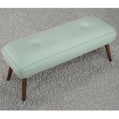 Kelly 48-inch Mid-century Aqua Bonded Tufted Bench - Overstock™ Shopping - Great Deals on Benches