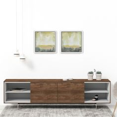 """This is the contemporary painting """"Hopeful Regions"""" by Max Kulich displayed with modern furniture and decorative objects. Modern Interior, Modern Furniture, Contemporary Paintings, Decorative Objects, Minimalism, The Originals, Abstract, Room, Inspiration"""