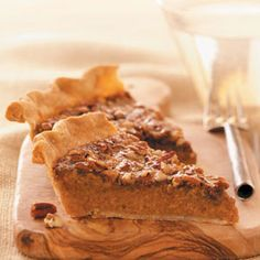 Sweet Potato Pie Recipes from Taste of Home, including Makeover Sweet Potato Pecan Pie Recipe
