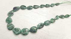 100 % Natural Brazilian Emerald Free-Form Shaped Beads 16inch Strand 56.5 Grams by BeadSeen on Etsy