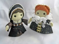 C Anne Boleyn and her even more famous daughter, Elizabeth I. Inspired by Anne's most famous portrait and Elizabeth's Ermine portrait.