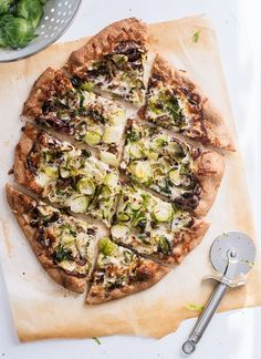 This Brussels sprouts pizza recipe is AMAZING! - http://cookieandkate.com