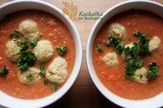 Kuchařka ze Svatojánu: ZELENINOVÁ POLÉVKA S DROŽĎOVÝMI KNEDLÍČKY Thai Red Curry, Healthy, Ethnic Recipes, Food, Essen, Yemek, Eten, Meals