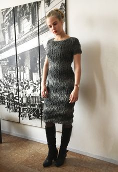 Lace dress. Hand knitted from Novita Nordic Wool Flow yarn.