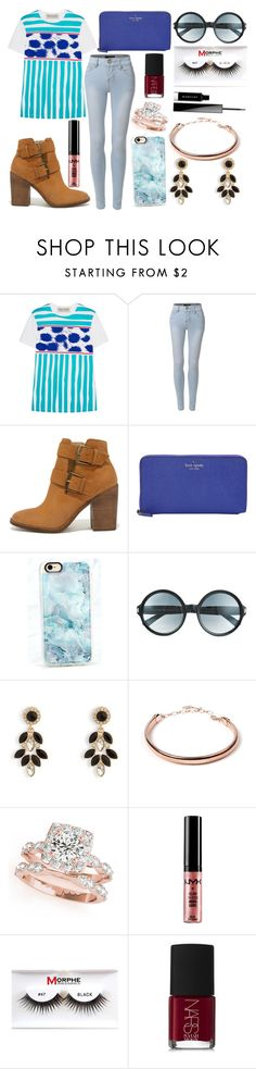 """Sin título #4067"" by onedirection-h1n1l2z1 on Polyvore featuring Être Cécile, LE3NO, Steve Madden, Kate Spade, Casetify, Tom Ford, Vera Bradley, Amrita Singh, NYX y Morphe"