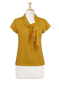 Side neck ties knit top