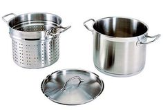 Update International SPSA20 20 Qt Induction Ready Stainless Steel Pasta Cooker wCover Strainer *** Details can be found by clicking on the image.