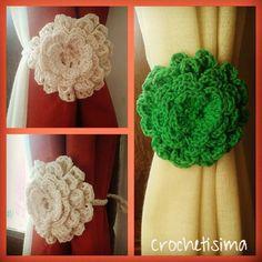 crochetisima Otros pares sujeta cortinas que se van...Gracias!!! #ganchillo #crochet # flores #colores #sujetacortinas #hechoamano #hechoconamor #instacrochet #crocheting # handmade #lovemade #crochetisima