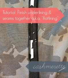 Tutorial: finish underlining and seams in one step