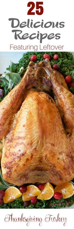 Thanksgiving brings out some of our most delicious recipes. The feature of the feast is a perfectly roasted Thanksgiving Turkey. But what do you do with the leftover turkey? Here are 25 delicious recipes featuring leftover Thanksgiving turkey.