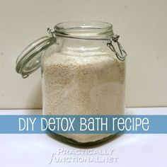 Today I am going to share an amazing DIY detox bath recipe with you! I use this detox bath to relieve stress or to help get over a cold and it works great!