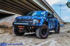Ford Raptor Blue Digital Camo by Texas Motorworx - Lifted Ford Trucks, Pickup Trucks, Cool Trucks, Big Trucks, Custom Ford Raptor, Ford Rapter, Camo Truck, Raptor Truck, Navara D40