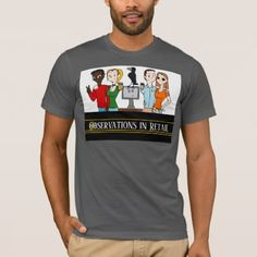 Observations in Retail Group Photo Grey T-shirt - cyo customize create your own #personalize diy