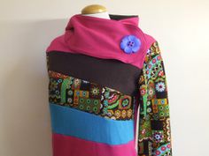WILD BLOOM  Hoodie Sweatshirt Sweater 1187  by MungoCrafts on Etsy, $76.00