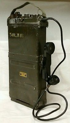"""Vintage 1953 Campbell """"PRC-9 RT-175A"""" Receiver/Transmitter Field Phone/Radio NOS"""