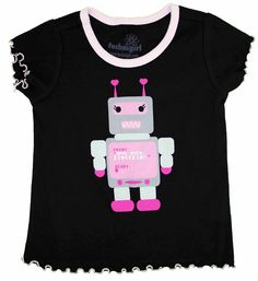 Technigirl Pink Robot Tshirt
