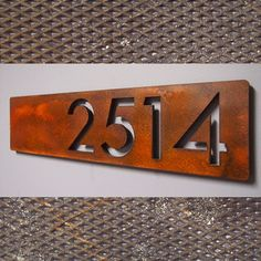 Address Plaques - modern - house numbers - indianapolis - by Moda Industria