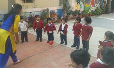Catch And Catch Activity Of Nursery Students- At MM Junior School