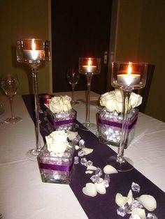 Deko on pinterest hochzeit wedding flower decorations for Tischdeko aubergine
