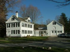 new link between historic house and barn - contemporary - exterior - boston - Carr, Lynch and Sandell, Inc.