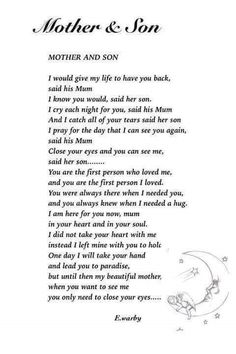 Discover and share Missing My Son Quotes. Explore our collection of motivational and famous quotes by authors you know and love. Son Poems, Grief Poems, Poems About Sons, The Words, Loss Of Son, Missing My Son, Grieving Mother, Heaven Quotes, Grieving Quotes