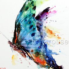 BUTTERFLY Watercolor Print by Dean Crouser by DeanCrouserArt on Etsy https://www.etsy.com/listing/122766057/butterfly-watercolor-print-by-dean
