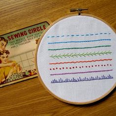 Embroidery Sampler for beginners by Oil & Cotton.  Love the description of what will be taught in this class.