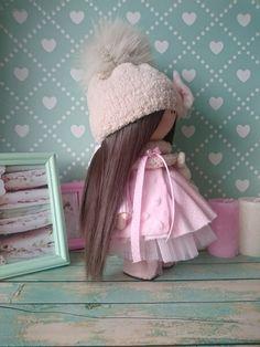 Bambole di stoffa Fabric doll Handmade doll Nursery doll Tilda