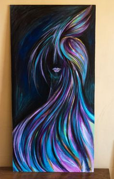 painting on wood using acrylics #painting #acrylic #abstractart #wood #figurativeart #paint #art